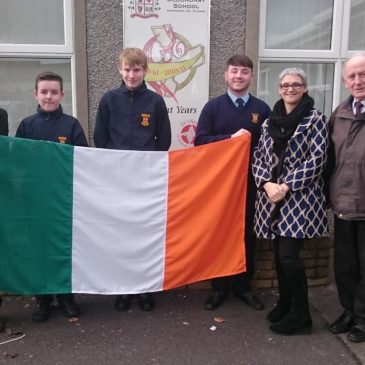 Students received Tricolour and 1916 proclamation