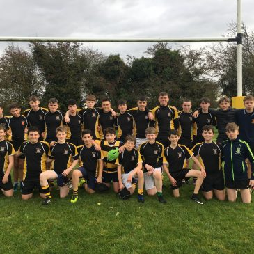 A comprehensive win today for Junior rugby team today over Scoil Mhuire Clane. A great team performance.