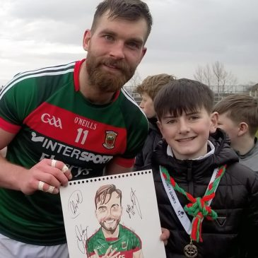 Our star sketch artist, Ross McHale meets his hero