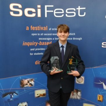Evan Mather Wins Science Prize