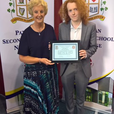 French Award winner James McCormack with Ms McCormack