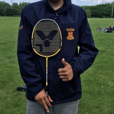 Sean Cong won the Badminton competition.