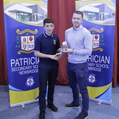 1st Year Hurling winner Jake Busuttil with Mr O'Keeffe