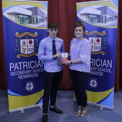 Junior Athletics winner Alex O'Shea with Ms Rothwell