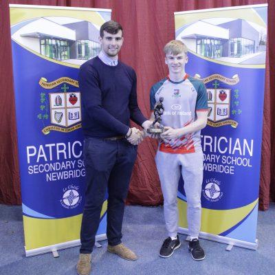 Senior Gaelic winner Cian Buckley with Mr Hanafin