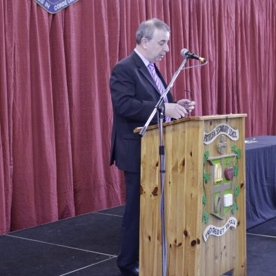 Mr O'Leary addresses his final Sports Awards to announce the Sportsperson of the Year