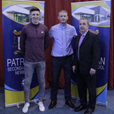 Darragh McHugh & Mr O'Leary with Mr Karl Hegarty