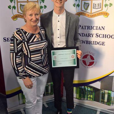 Maths Award winner Colin Smyth with Ms Disney