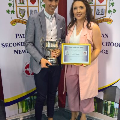 Sportsperson of the Year Award winner Mark Glynn with Ms Nugent