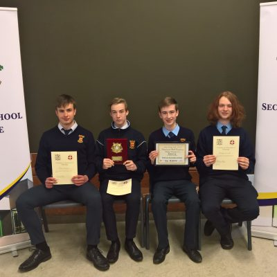 Debating award winners