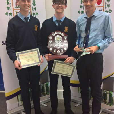 IAMTA East Midlands Region Applied Maths winners (Peter McHale, Colin Smyth & Mark Glynn)