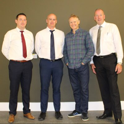 Joe with our new management team - Mr Scallan, Mr Cunnane and Mr Moloney