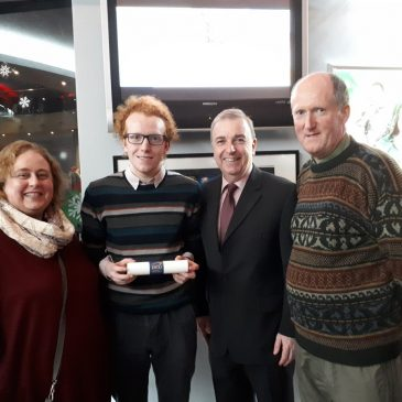DCU Academic Scholarship Award for James McCormack