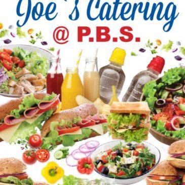 Joe's Catering Menu 2021-2022
