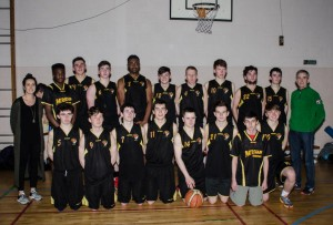 U19 Basketball Team in Tralee 2015