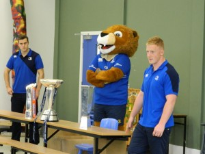 Leinster Rugby Team visit in 2013