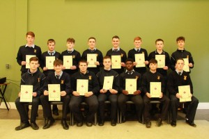 5th Year Gradam Acadúil recipients