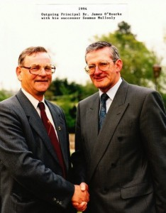 Brother James O'Rourke and Seamus Mullooly